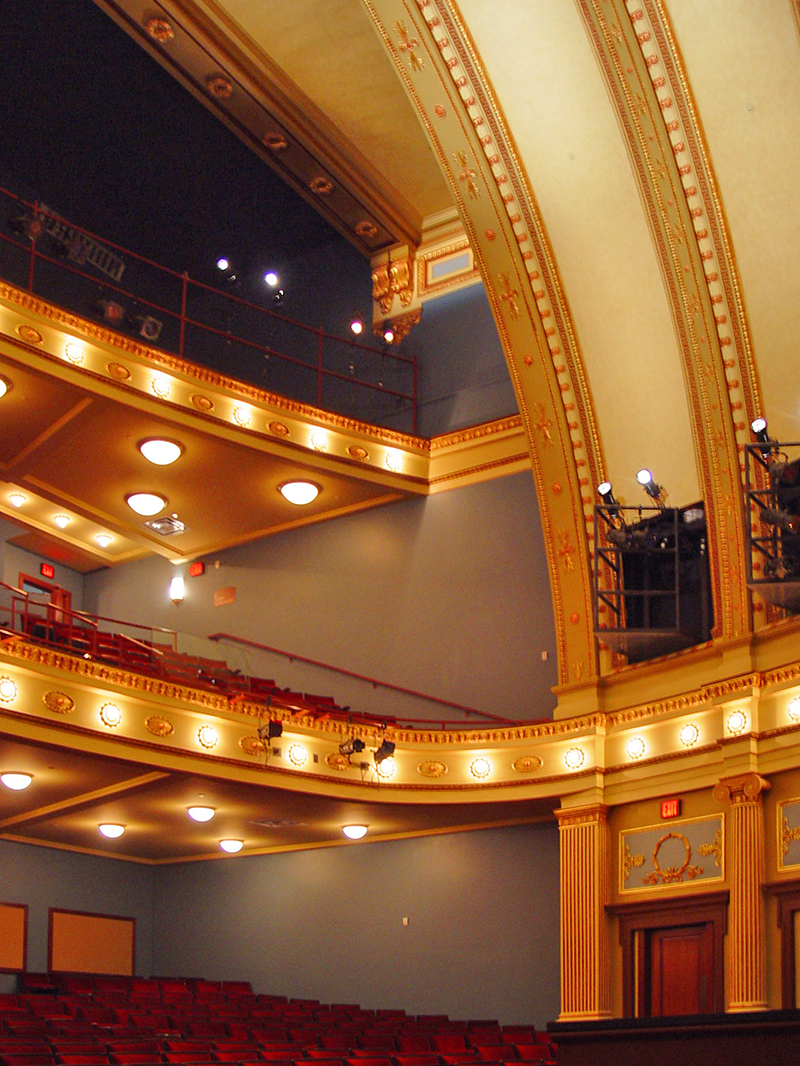 External website for Open balcony in a theatre